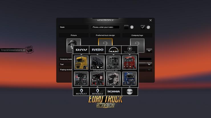 Alle truckmerken in Euro Truck Simulator 2