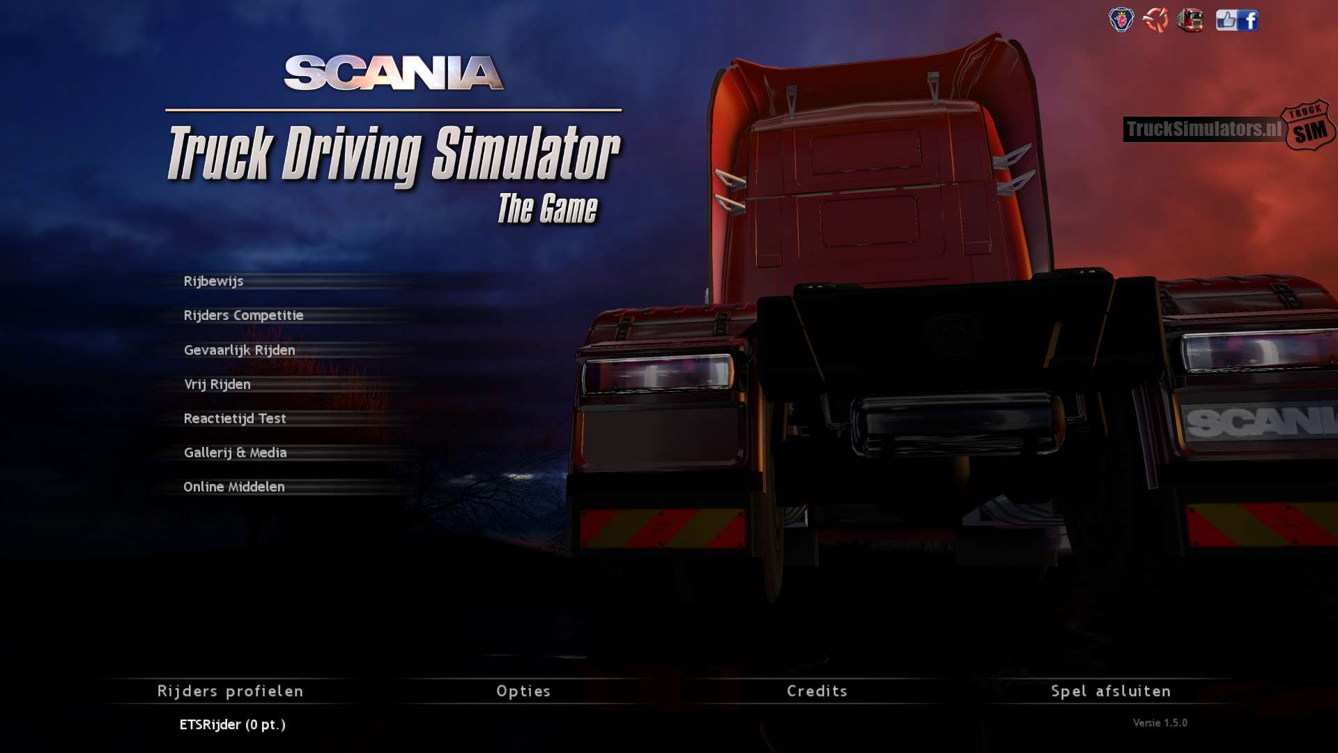 Scania truck driver simulator game