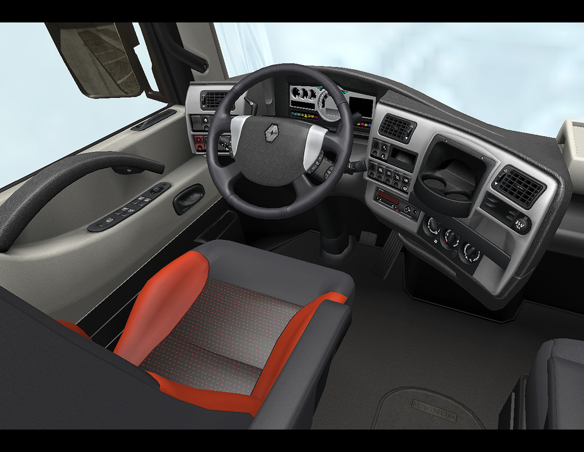 Euro truck simulator 2 renault for Interieur software
